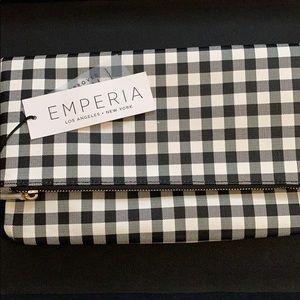 Emperia checkered clutch
